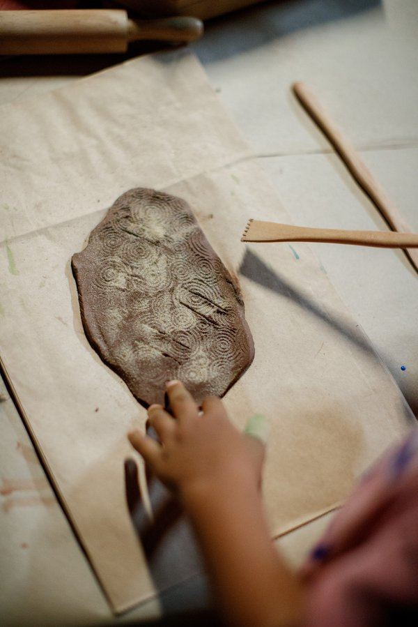 Rock engraving activity