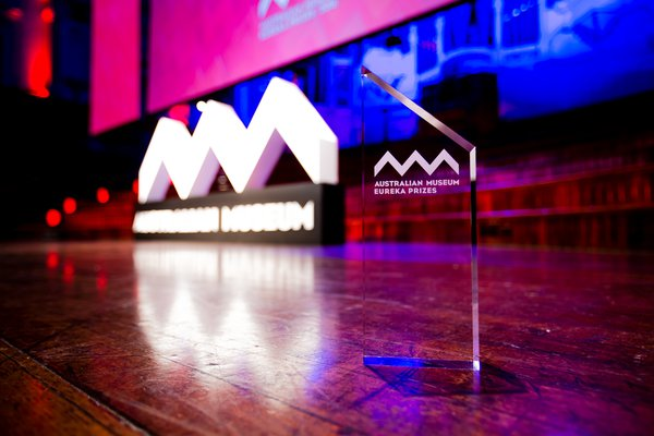 Eureka Prizes trophy close-up