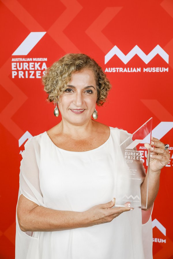 Professor Hala Zreiqat, winner of the 2019 ANSTO Eureka Prize for Innovative Use of Technology