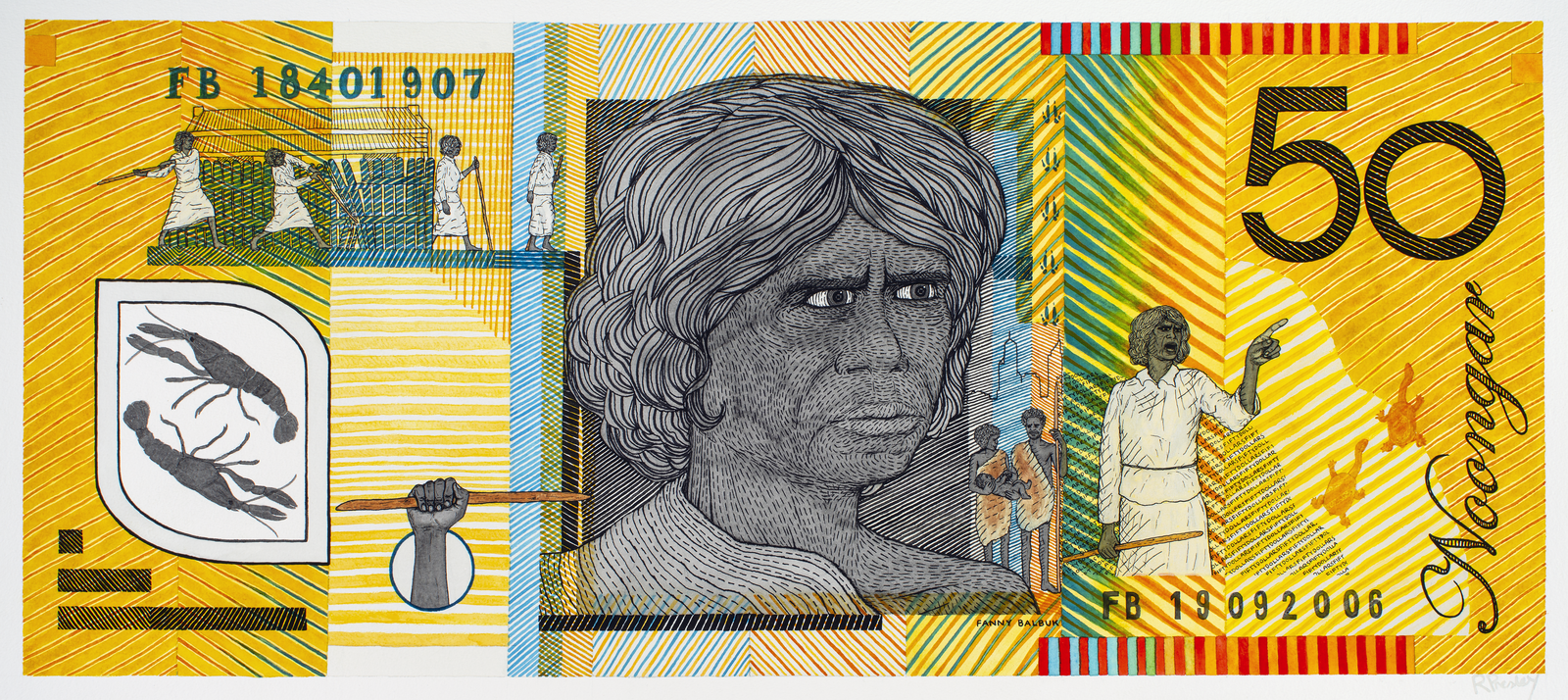 Fanny Balbuk (1840-1907) Blood Money – Fifty Dollar Note – Fanny Balbuk Commemorative 2011