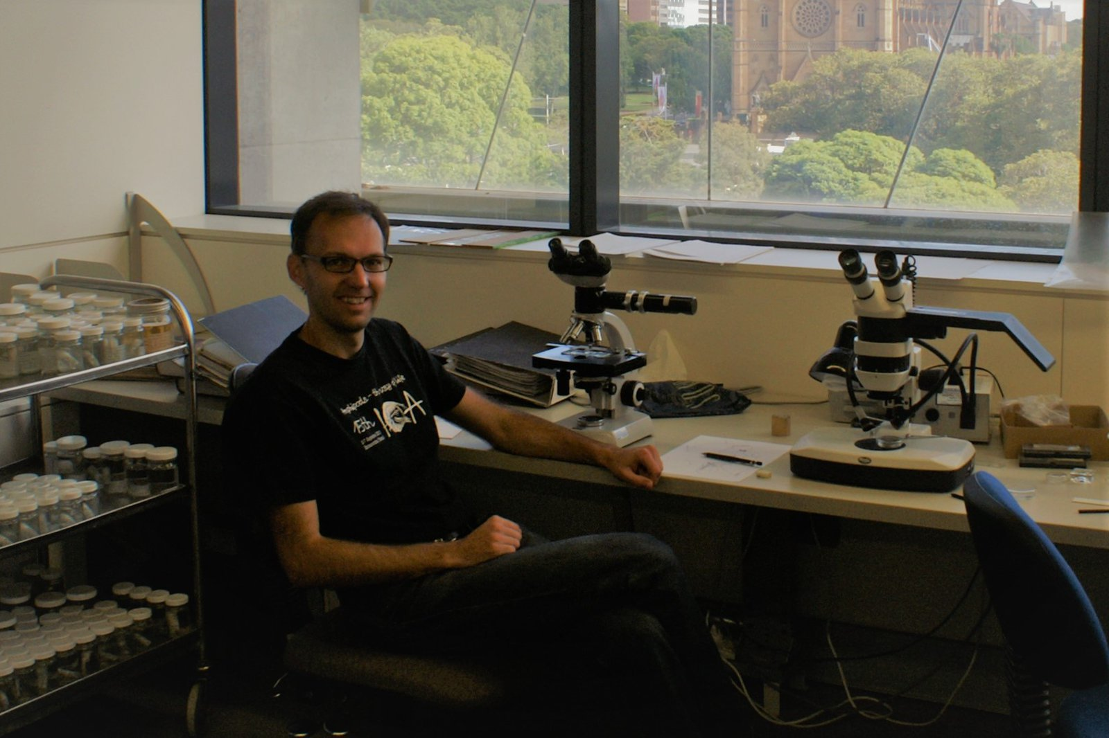 Mikhail Daneliya during his visit to the Australian Museum Research Institute in 2015