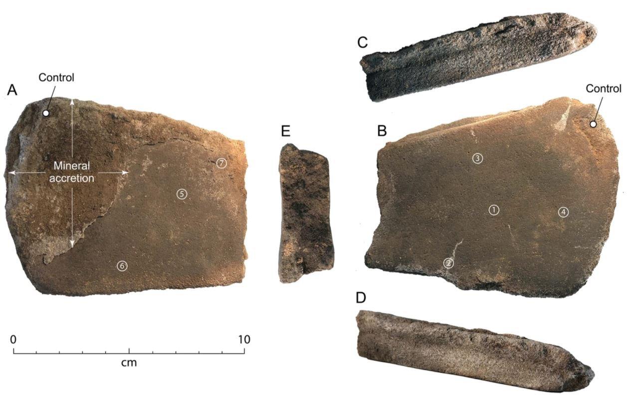 The Cloggs cave grindstone (Stephenson et al. 2021, Figure 4)