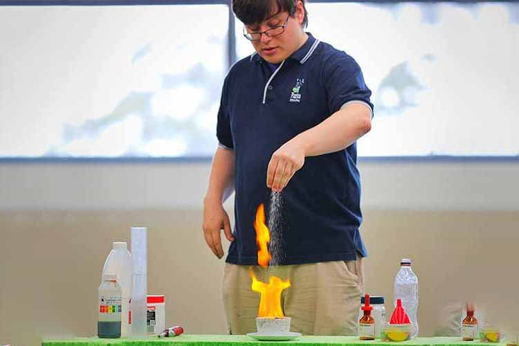 Food science flame test