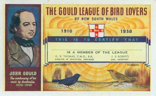 Gould Member Certificate 1938