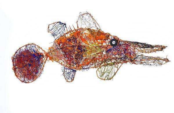 Ghost net art, Simon Norman Barramundi - E095706