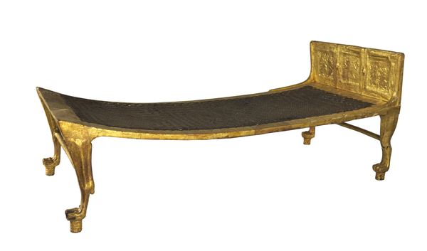 Gilded Wooden Bed from Egypt