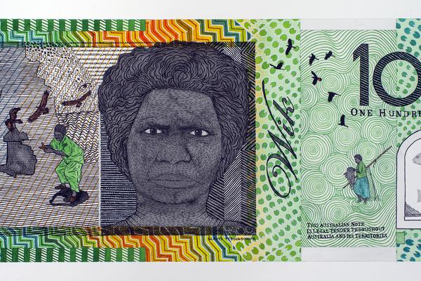Gladys Tybingoompa (1946-2006) Blood Money – One Hundred Dollar Note – Gladys Tybingoompa Commemorative 2011