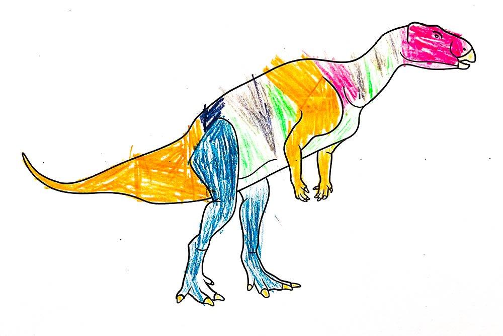 Australian dinosaurs colouring activity