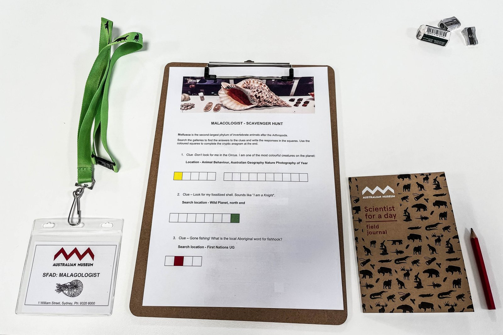 Scientist for a Day Malacologist field journal