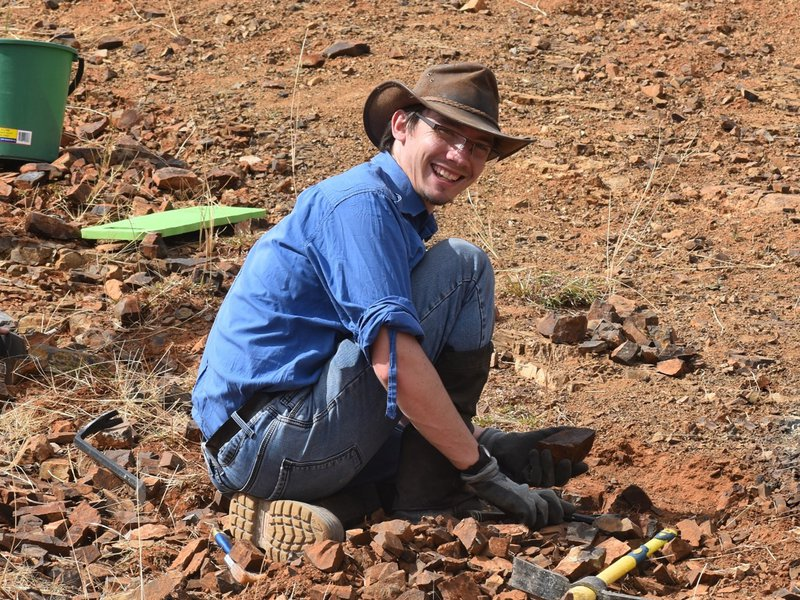 Photo of Dr Patrick Smith in the field