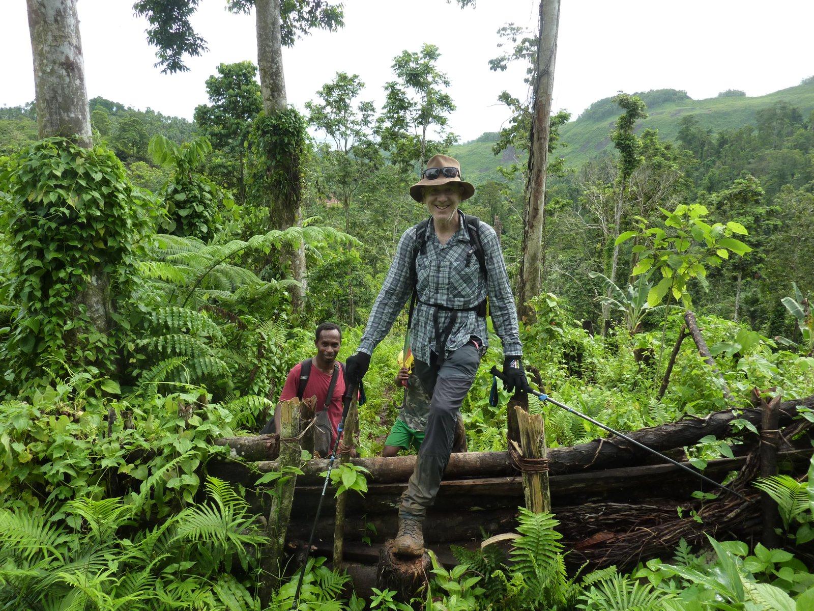 Jim Phillipson makes the trek through the forests of central Malaita, Solomon Islands