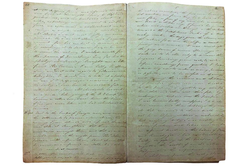 Captain James Wallis' diary entry