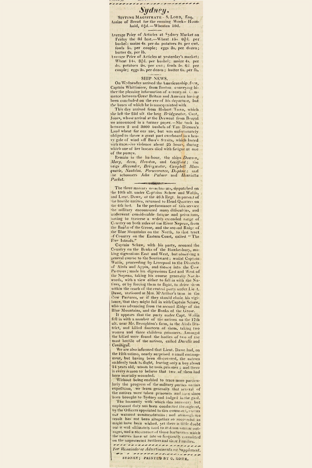 Report of the Appin Massacre