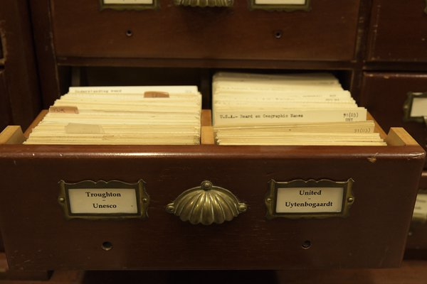 Library card catalogue
