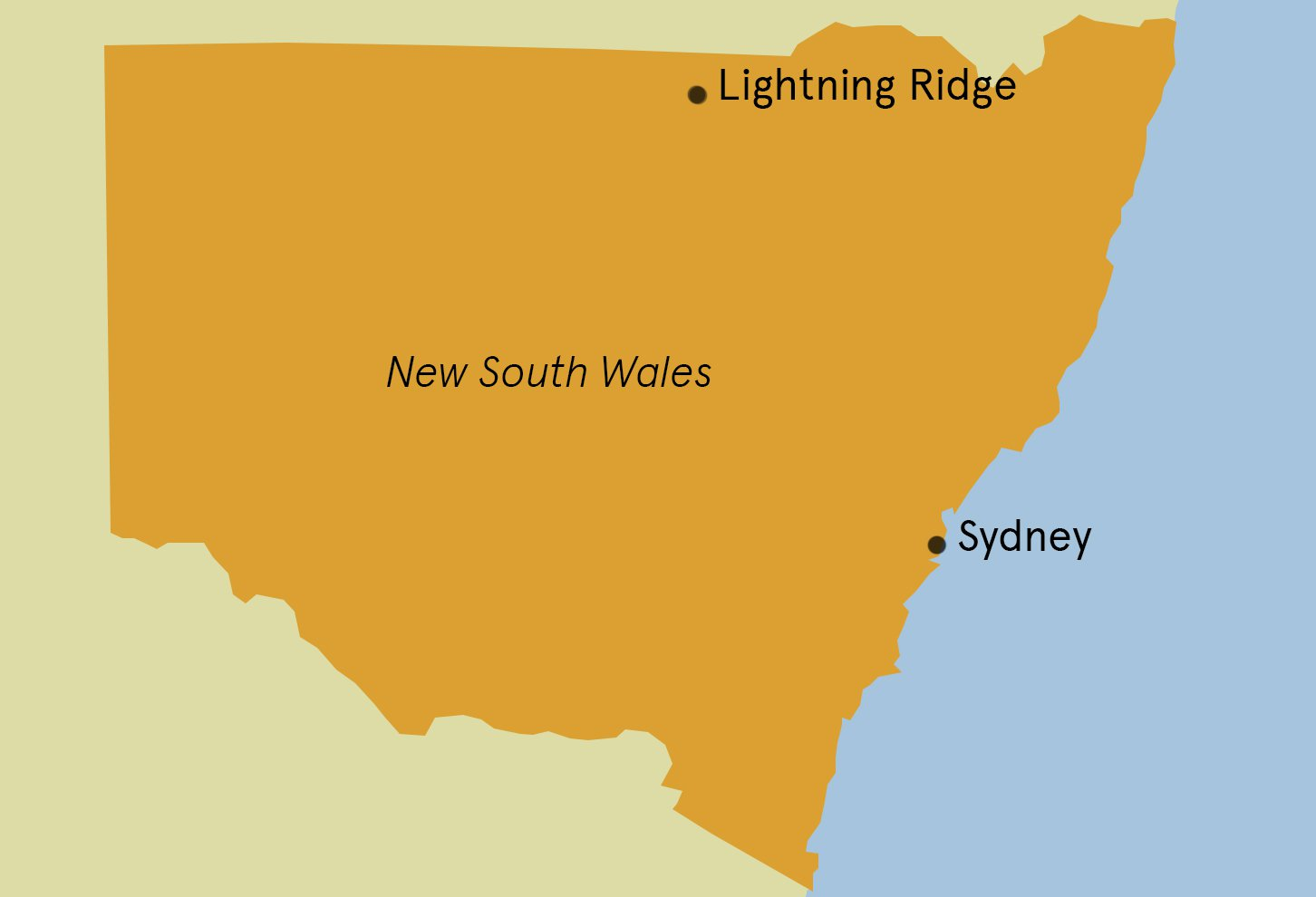 Lightning Ridge Map