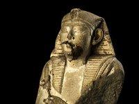 Limestone Osiris Figure