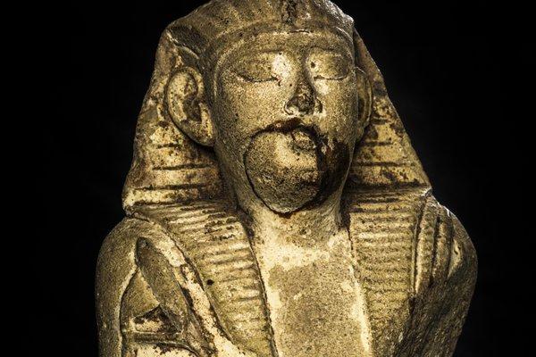 Limestone Osiris Figure E026217