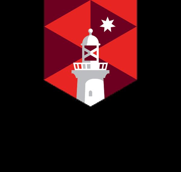Macquarie University logo colour pos