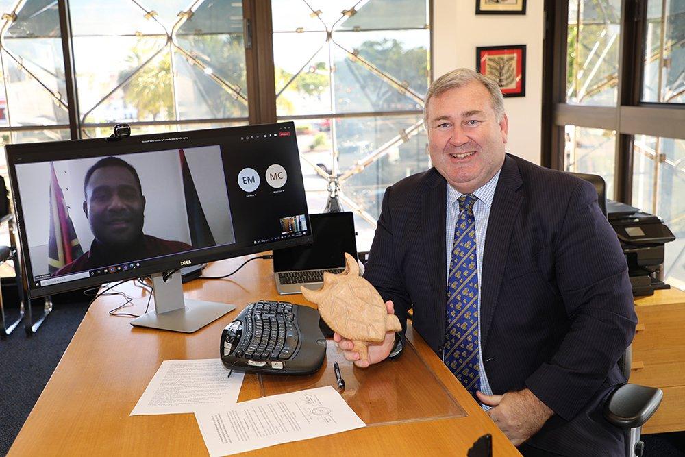 Sister City' agreement 2021 signing with Mayor Jack Dempsey Bundaberg Regional Council QLD