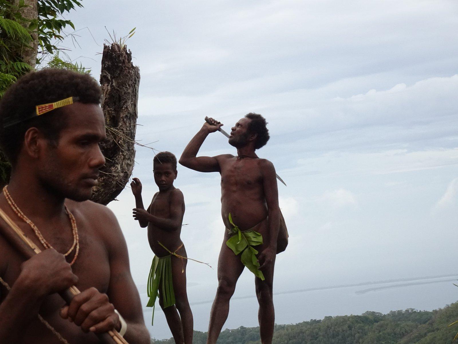 Members of the Kwaio community, Malaita, Solomon Islands