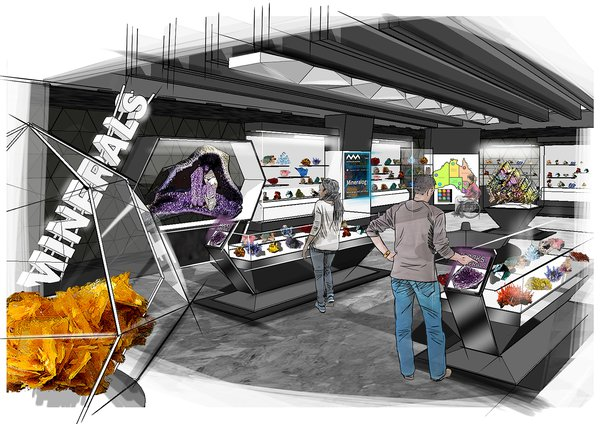 Artist's impression of the permanent Minerals gallery