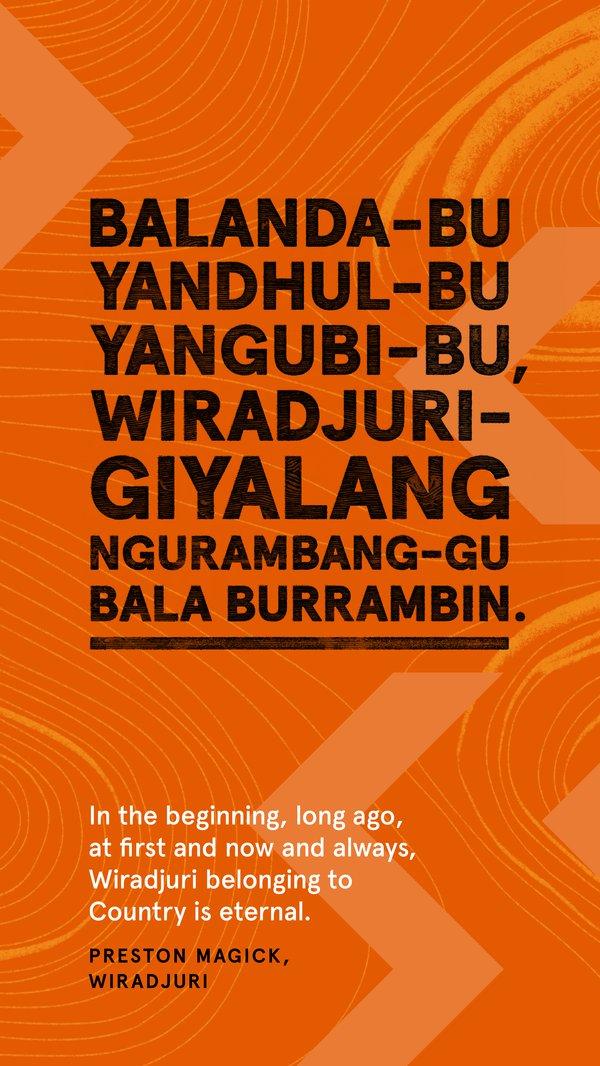 Always Was, Always Will Be Aboriginal Land, Wiradjuri