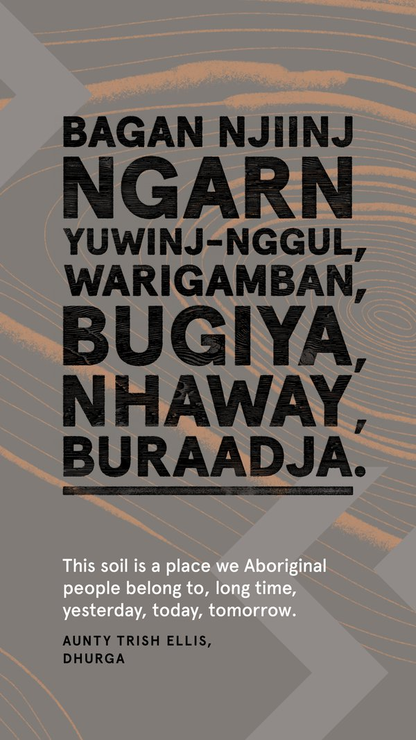Always Was, Always Will Be Aboriginal Land, Dhurga