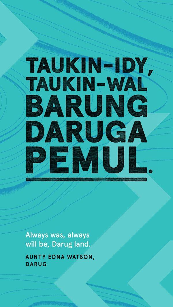 Always Was, Always Will Be Aboriginal Land, Darug