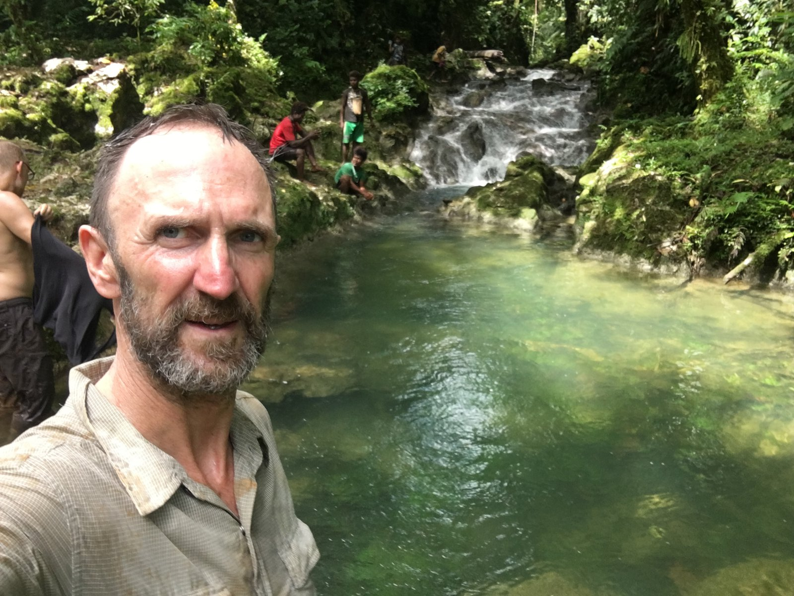 Paul Flemmons on a trail in Malaita.