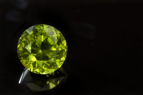 Faceted peridot, Cheviot Hills, Queensland