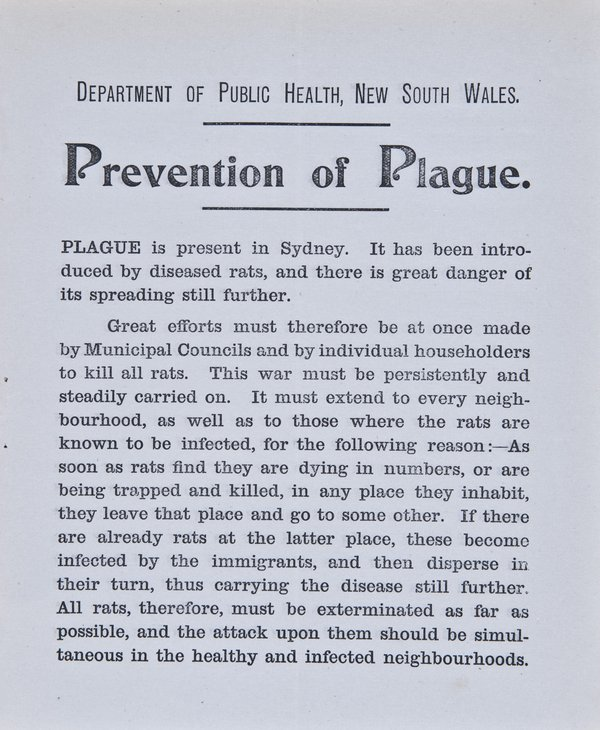 Prevention of Plague. Instructions to Householders - Page 3