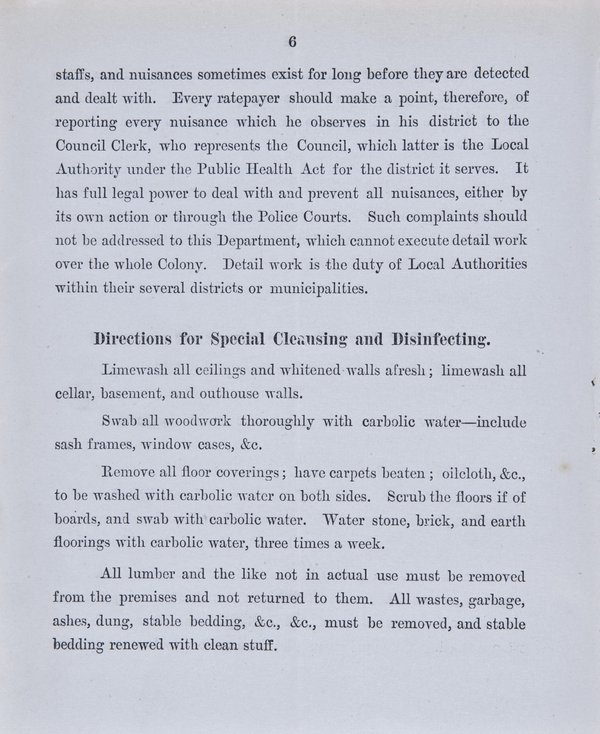 Prevention of Plague. Instructions to Householders - Page 6