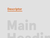 Descriptor promo tile