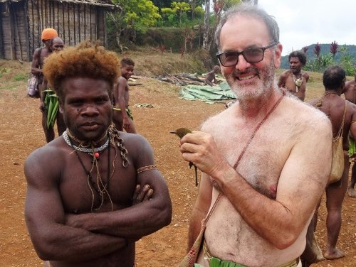 Richard Major during his visit to Malaita, Solomon Islands in November 2018