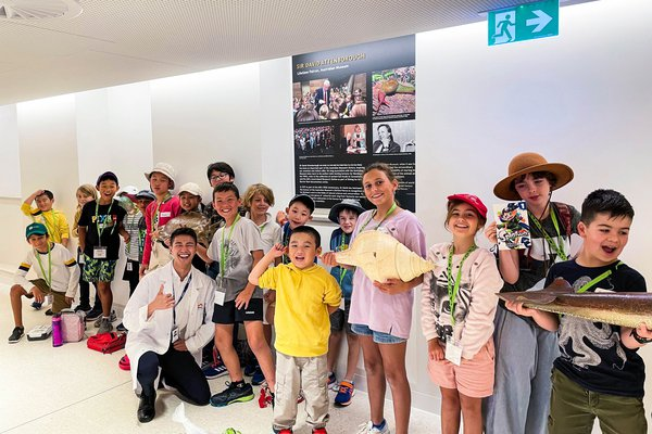 Group photo of children in Scientist for a Day program