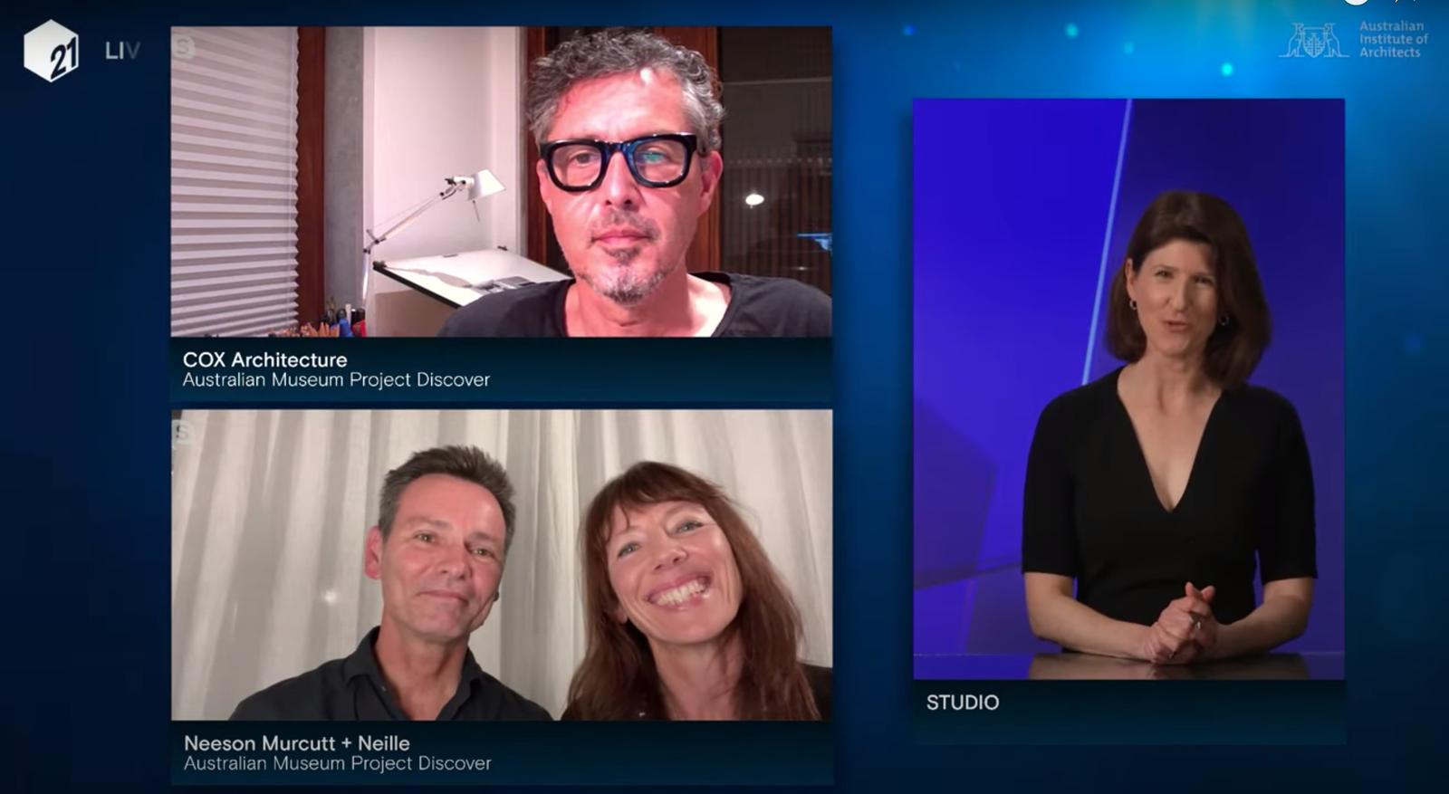 Rachel Neeson, Stephen Neille and Joe Agius from Neeson Murcutt + Neille and Cox Architecture
