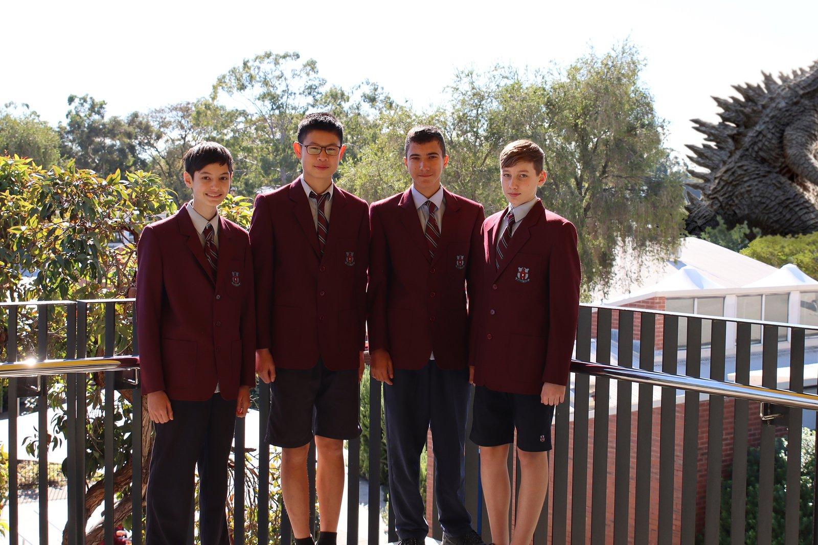 Isaac N., Ethan P., Reuben R. and Alex S., Willetton Senior High School, WA