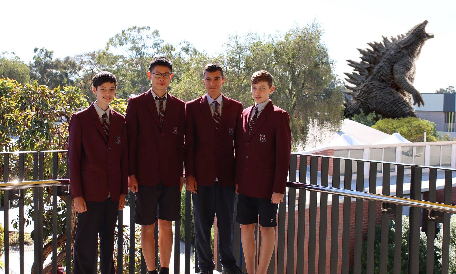 Isaac N., Ethan P., Reuben R. and Alex S. - Finalists, 2021 University of Sydney Sleek Geeks Science Eureka Prize — Secondary