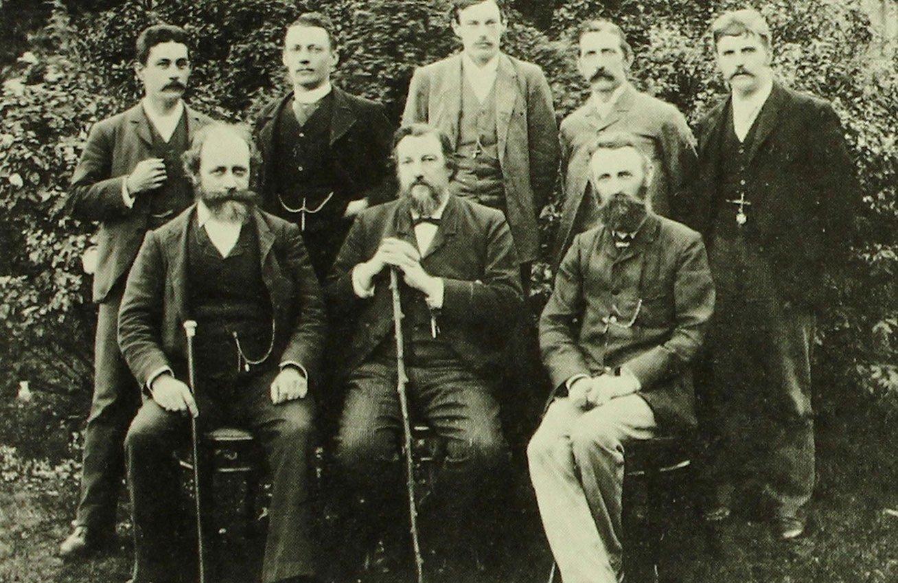 Senior staff of the Australian Museum in 1892.