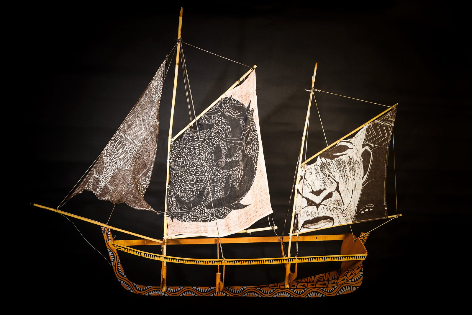 Storyboat Installation from Unsettled exhibition