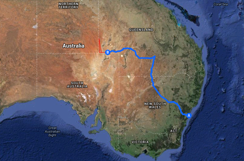 Simpson Desert expedition route