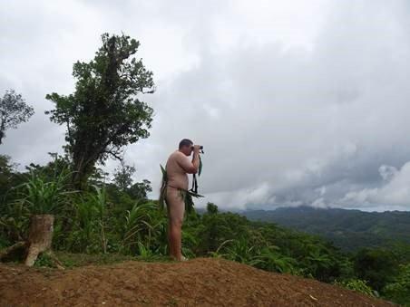 Solomon Islands - Ornithology - Corey C watching swiftlets