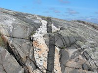 Igneous intrusion in Sweden