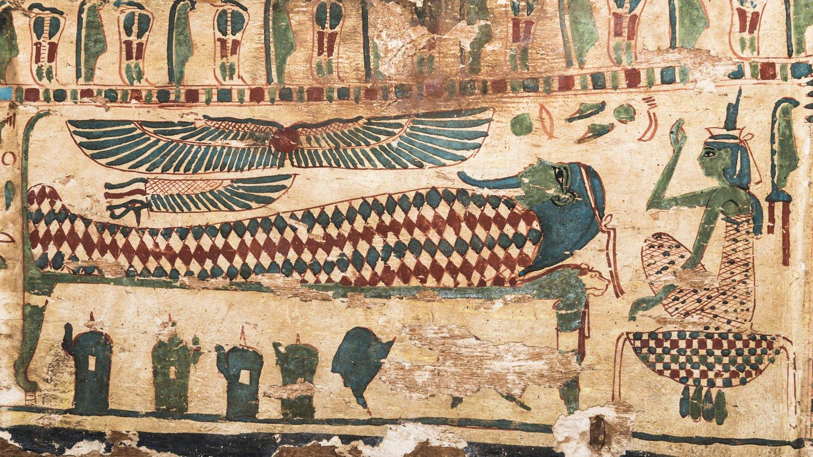 Theban mummy coffin detail