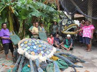 Ghost net art: Work nears completion