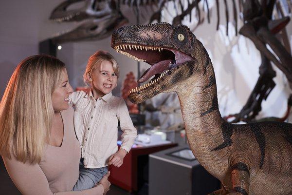 Girl with Dinosaur