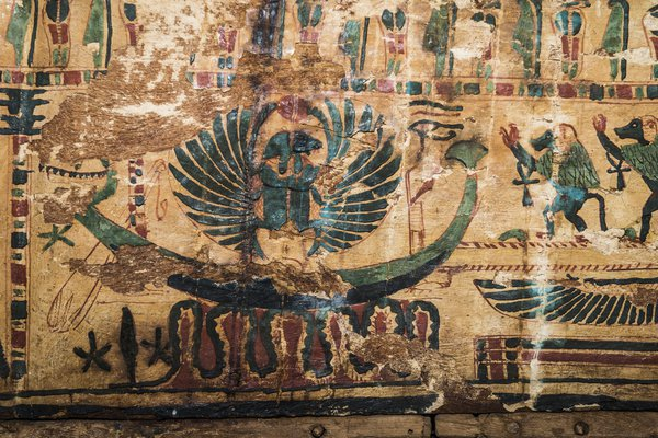 Theban mummy coffin detail