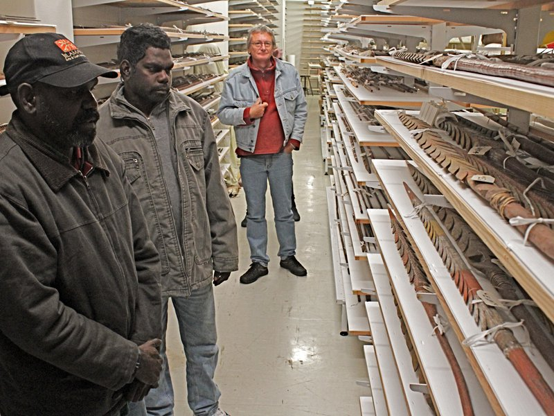 Viewing spears in the collection areas