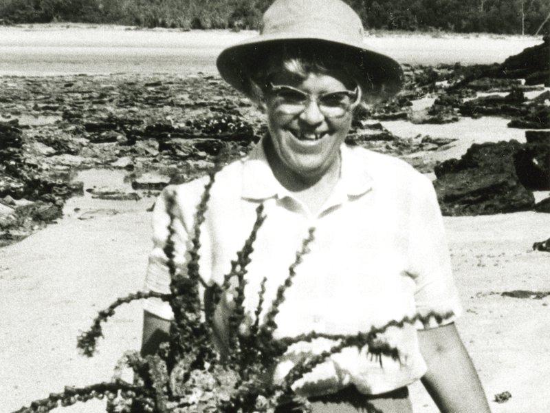 Elizabeth Pope at Alcoa Bay, N. T., 1968