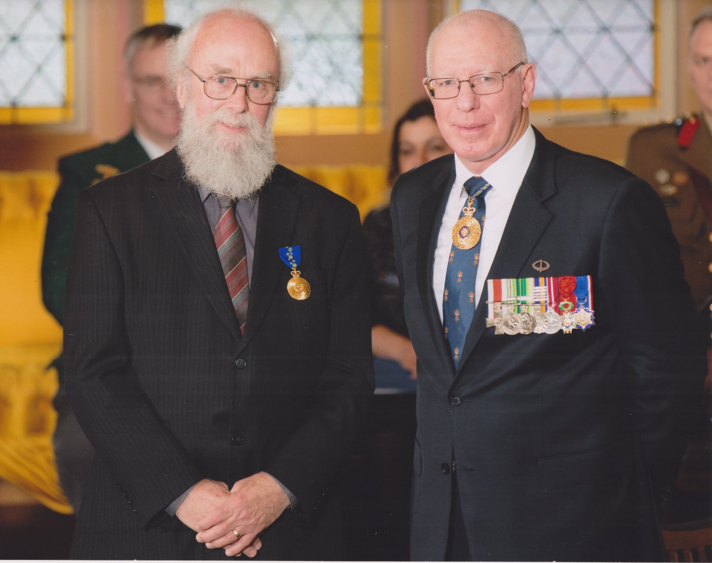 Geoff Williams AM and His Excellency General The Honourable David Hurley AC DSC (Ret'd), Governor of New South Wales.